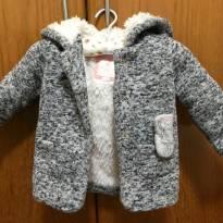 Casaco infantil com capuz de orelhas, forrado com pêlo - 9 à 12 meses -Baby Club - 9 a 12 meses - Baby Club