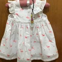 Vestido com calcinha - Tip Top - Tamanho E - 9 a 12 meses - Tip Top