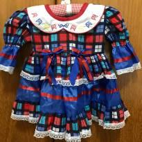 Vestido caipira - Festa Junina - Tamanho 1 - 1 ano - desapegos gugudada