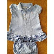 Vestido Polo com calcinha - Ralph Lauren - primavera - 3 a 6 meses - Ralph Lauren
