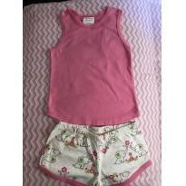 Pijama de manga regata e shorts - tamanho 1 - P.I. Kids - 9 a 12 meses - P.I. Kids