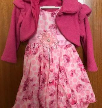Vestido de Festa - Bambina Fashion - Tamanho 3 - 3 anos - Bambina Fashion