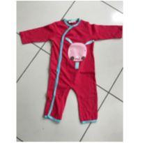 Macacão sem  pé - Milk & Co - Tamanho 6 à 9 meses - Cor Vermelha