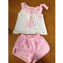 Pijama - Verde Magia - verão - Tamanho 1 - Verão - 9 a 12 meses - Verde Magia