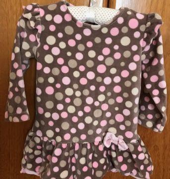 Vestido em Plush  - Tamanho E ou GG - Tip Top - 9 a 12 meses - Tip Top