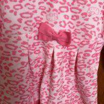 Vestido  em  Plush - Tamanho G ou 6 à 9 meses - 6 a 9 meses - Hello  Kitty