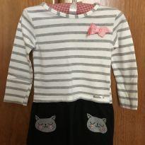 Vestido de manga longa - Tamanho 1 - 1 ano - Alakazoo!