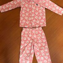 Pijama 2 peças em fleece rosa - Tip Top - Tamanho 2 - 2 anos - Tip Top