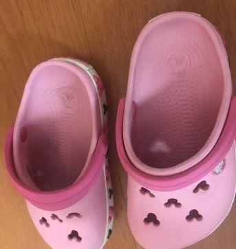 Crocs Clog K Crocband Minnie Rosa Claro  - Número 6 - 7 ou equivalente ao 21/22 - 21 - Crocs