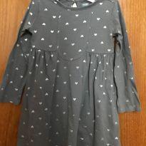 Vestido  de manga longa -  3 anos  Old Navy - 3 anos - Old Navy
