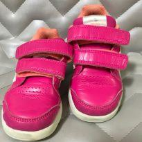 Tênis Adidas Infantil  - LK TRAINER -  Rosa e branco -  Número 23