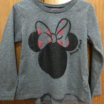 Camiseta de manga longa - Minnie Mouse - Tamanho 2 - 2 anos - Minnie