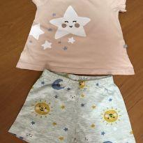 Pijama curto - Tamanho 3 - Hering Kids - 3 anos - Hering Kids