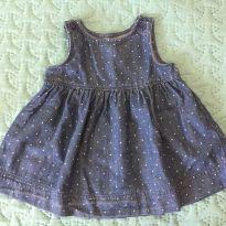 Vestido Jeans de Poá - 9 meses - Baby Gap