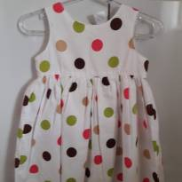 Vestido de Bolinha da Carte`s - 9 a 12 meses - Carter`s