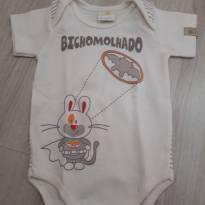 Body manga curta Bicho Molhado - 0 a 3 meses - Bicho Molhado