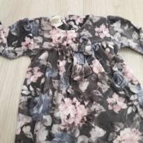 Blusa florida plush P - 0 a 3 meses - Kiko baby