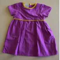 Vestido lilás e amarelo - 1 ano - Basic + Baby