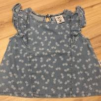 Bata jeans bicicletas - 9 a 12 meses - Hering Baby