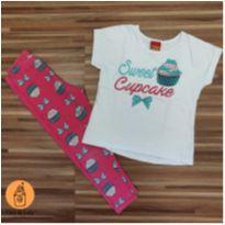 Conjunto sweet cupcake - 3 anos - Kyly