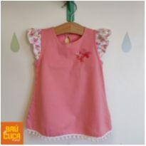 Vestido rosa Pom-pom - 9 a 12 meses - Teddy Boom