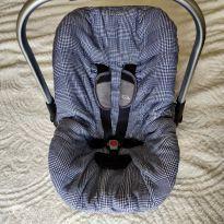 Capa para bebê conforto Xadrez Azul -  - hug e Hug  Eireli
