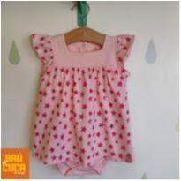 Vestido rosa estrelinhas - 9 a 12 meses - Teddy Boom