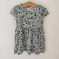 Vestido cinza flores - 3 anos - Kely & Kety