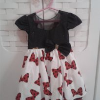 Vestido festa Minnie  vermelha - 3 anos - Menina Bonita