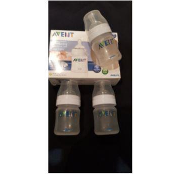 kit com 3 mamadeiras anti- cólica Avent de 125 ml/  CLASSIC - Sem faixa etaria - Avent Philips