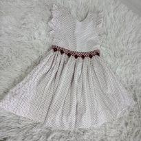 Vestido Branco Bolinha vermelhinha - 3 anos - Não informada