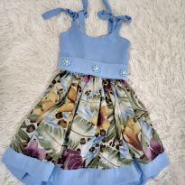 Vestido Azul Lindinho - 4 anos - Não informada
