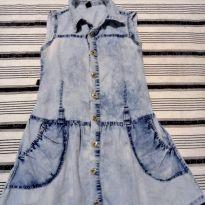 Vestido Jeans - 10 anos - Não informada
