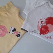 Kit 02 Bodies Minnie Coloridos (item 088) - 0 a 3 meses - Baby Club