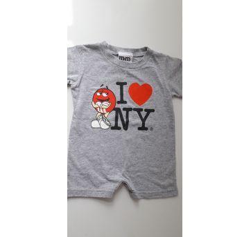 Macaquinho M&m`s I Love NY (item 095) - 6 meses - Importada