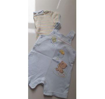 Jardineira com blusa bichinhos (item 096) - 6 meses - Carter`s