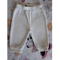 Calça branca em plush (item 109) - 0 a 3 meses - Baby Club