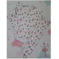 Pijaminha Corujas (item 196) - 6 a 9 meses - Artesanal