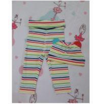 Kit calça colorida + touca (item 187) - 3 a 6 meses - H&M