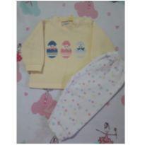 Pijama Fleece Ovinhos (item 200) - 3 a 6 meses - Dedeka