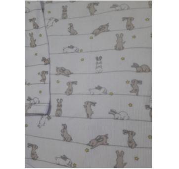 Pijama coelhinhos cinza (item 199) - 6 a 9 meses - Dedeka
