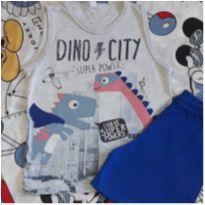 Pijama Dino City (item 219) - 4 anos - Malwee