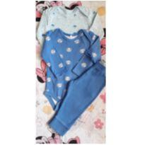 Trio Azul (item 253) - 6 a 9 meses - Baby Club