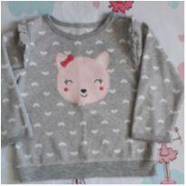 Blusa fleece gatinha (item 272) - 6 a 9 meses - Child of Mine