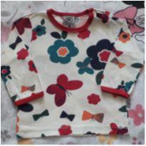 Blusa Florida (item 275) - 6 a 9 meses - Hering Baby