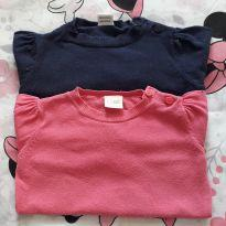 Kit 02 blusas meia estação (item 277) - 6 a 9 meses - Teddy Boom