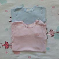 Kit 02 Bodies Lisos (item 316) - 6 a 9 meses - Clube do Dino