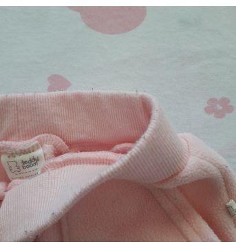 Calça Fleece Rosa (item 310) - 6 a 9 meses - Teddy Boom