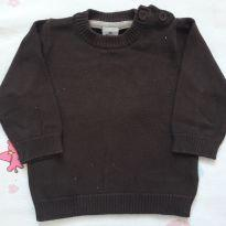 Suéter marrom (item 318) - 6 a 9 meses - Tip Top