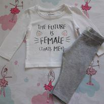 "Conjunto ""the future is female!"" (Item 381) - 9 a 12 meses - H&M"